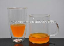 Fancy Borosilicate Double Wall Glass Fruit Juice Mugs