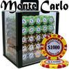 Monte Carlo Casino Poker Chip Set with Acrylic Case - 1000 Piece