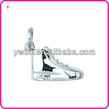 2013 Hotsell Fashion Silver plating Black Enamel Sneaker Jewelry pendent