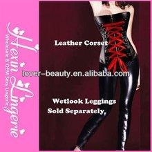 2013 Fashion Wholesale lady xxxl sexy leather corset