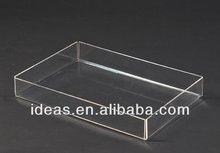 Modern clear acrylic tray for food