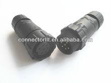 M14 male female IP68 waterproof 7 pin connector