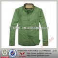 cetim polyetser grama verde camisas casuais