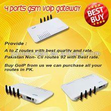free sip gateway provider/support VPN 4 channels gsm voip gateway