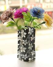 clear folding plastic flower vases for decorative
