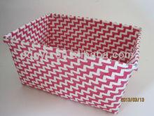 PP strip handmade pink bread basket