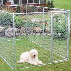 13X7.5X6ft galvanized heavy duty chain link dog kennel