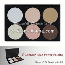 Best sale! 6 color contour palette mineral powder blush