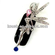 Jewelry Diamond USB Flash Drive 64GB Angel