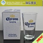 16oz Drinkware Glass Beer Brands Logo