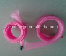 fray resistant braided PET/Nylon expandable mesh tube