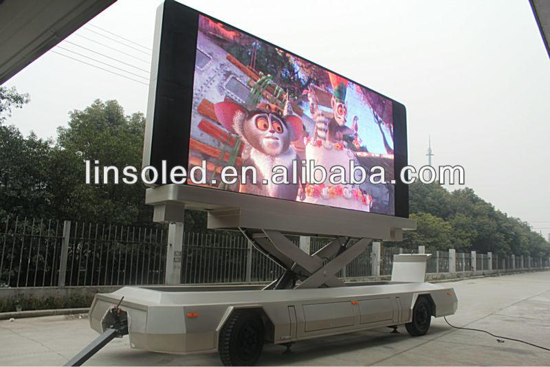 Outdoor Fullcolor P8.75 LED Screen HD Video Billboard Mobile Trailer Vehicle