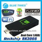 Android 4.1 Mini PC TV Box XBMC HTPC HDMI HD Player Dual Core RK3066 MK802 III