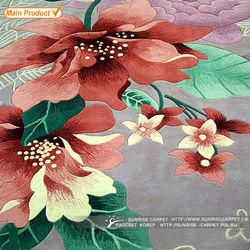 Flower design merino wool rugs for living room