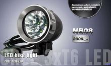 High lumens bicycle light mount