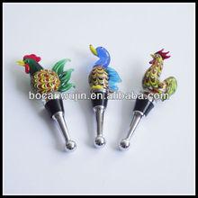 colourful decorative wine stopper
