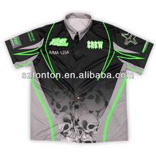 dye sublimation racing pit crew shirts wholesale