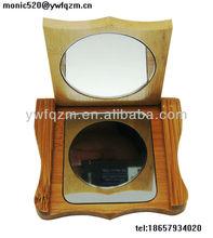 wooden pocket hand mirrors wedding gift