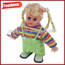 B / O andar bebê musical boneca de cerâmica