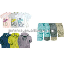 2013 spring and autumn new style 100% cotton boys three piece suit