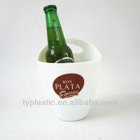 Small ice bucket White plastic bucket Mini ice cooler