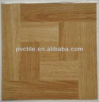 Fireproof Wood design 12x12 PVC peel and stick floor tiles