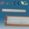Marco de madera SFD258C y ABS rejilla a prueba de polvo fluorescente a prueba de agua t5 t8 lámpara de vidrio deslustrado ip44 t8