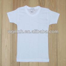 kid's promotional fashion plain white t-shirt