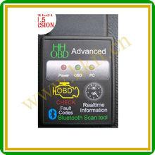 Good quality moq 1 piece HH OBD ELM327 Bluetooth obd2 V1.5 auto diagnostic tool