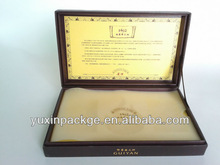 2013 top grade, high quality cardboard paper gift packing box with foam and grease proof paper inside