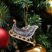 Plastic Glitter Christmas decorative deer
