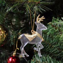 Plastic Glitter reindeer Christmas decoration supplies