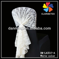Wedding Lace Chair Hood In White Color