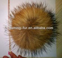 100% real fox/mink/rabbit fur accessory/pompom/ball