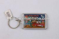 plastic keychain photo holder