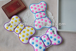 For iphone 5 5G dot bow case silicone soft mobile phone skin cover gentle elegant girls