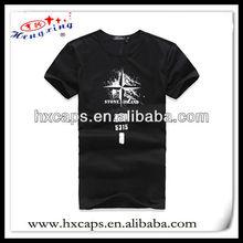 100% cotton oem factory custom plain black mens t-shirt