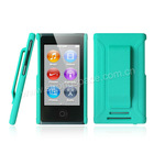 Green Belt Clip PC Rubber Case Cover for Apple iPod Nano 7th Generation