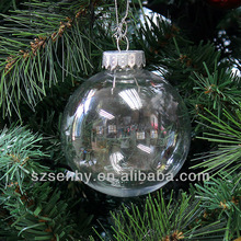 Seamless 80mm christmas decorations clear plastic balls