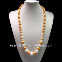Wheat and white fashion kid necklaces