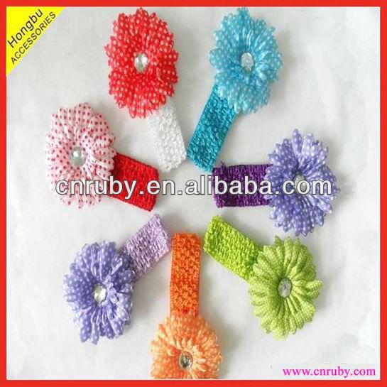 renkli çiçek tığ saç bandı