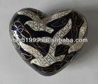 Wholesale Funeral Heart-shape Keepsake Urn/Jar Ashes (cloisonne no. P1480 K)