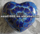 Wholesale Funeral Heart-shape Keepsake Urn/Jar Ashes (cloisonne no. P102 K)