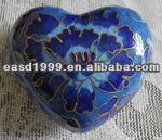 Wholesale Funeral Heart-shape Keepsake Urn/Jar Ashes (cloisonne no. P102 K)