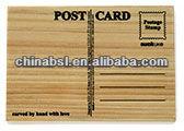 Wooden Postcard invitation card