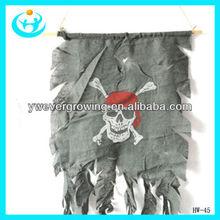 Bar decorate skull and crossbones demon door curtain flag halloween door decoration