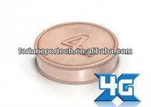 4gb round coin usb flash drive . logo free