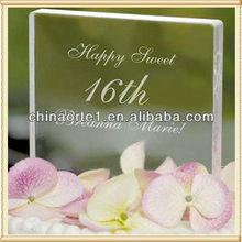 Excelente cristal cuadrado decoración de la torta para $number regalos de cumpleaños