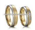 Di lusso in oro anello 2013 nuovo design, anello di diamanti in oro gioielli, monilid'argento ingrosso thailandia per il matrimonio