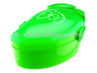 mango shaped plastic lunch box wih spoon/Fruit shaped lunch box/gift/Promotional products